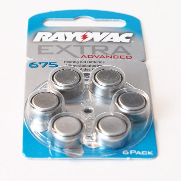 300 x Rayovac Extra Advanced Hörgerätebatterien 675 675AUN-6XEMF 50 Blister