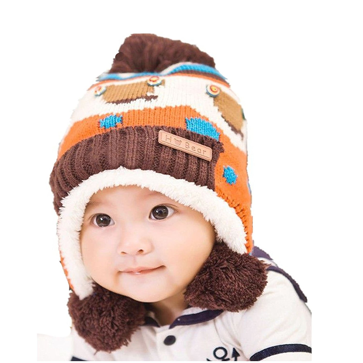 31791a049ee Get Quotations · Dealzip Inc Cute Blue Unisex Baby Toddler Kids Child  Winter Warm Panda Pattern Hat Beanie