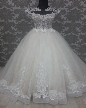 Transparent Sparkling Strapless With Cap Sleeve Wedding Dress ... 4af4087287d