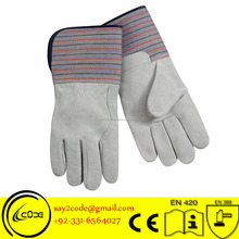 High Quality Cow split leather Canadian rigger glove for construction