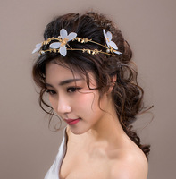 Hair Accessories Wedding Tiara Bridal Crown Women Head Piece with butterfly pearls Hair Jewelry Princess Headdress