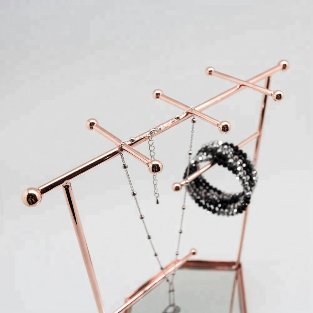 Trade Assurance Rose gold Metal Accessory Jewelry display Stand