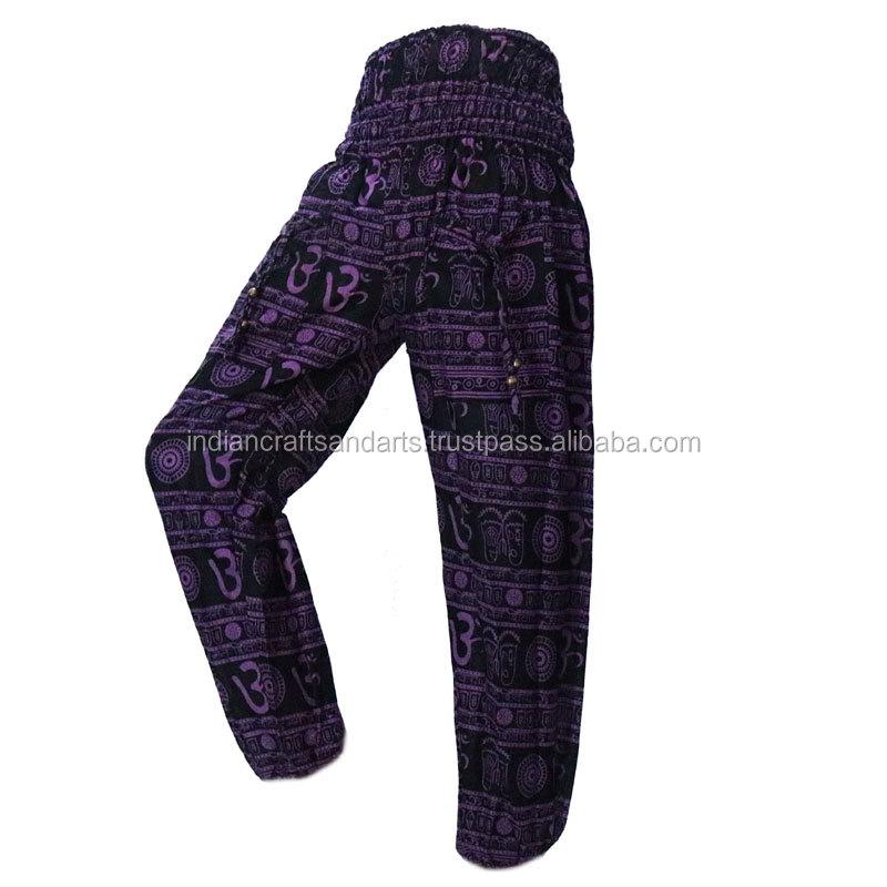 Harem Trousers Aladdin Drawstring Thai Hareem Pants Alibaba Hippie Festival Boho