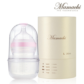 Mamachi Baby Bottle Premium Large 5 Colors Silicone Made in Korea FDA Safety BPA Free Microwavable