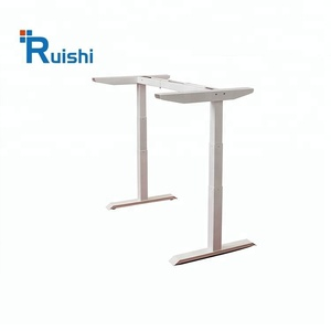 2018 Best Design White Electric Height Adjustable Standing Workbench Office Desk