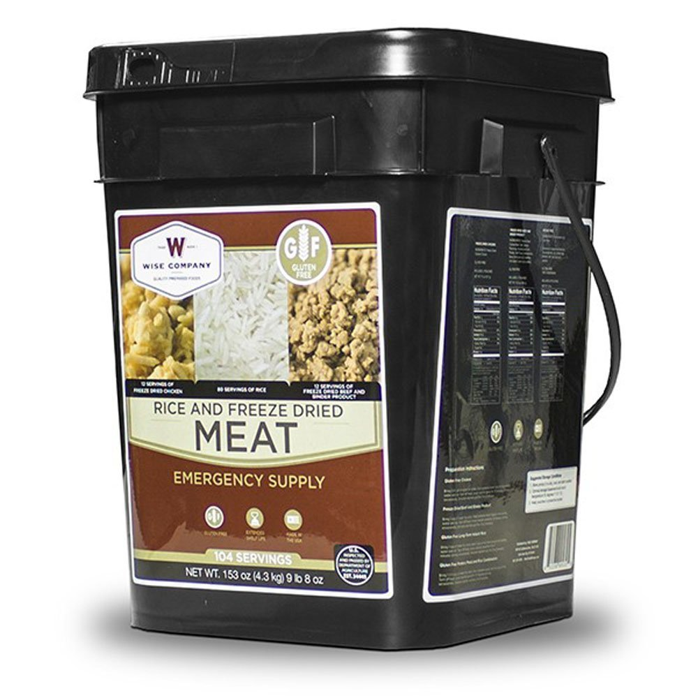 Wise Gluten Free 104 Servings Rice and Meat Protein Emergency Food Supply