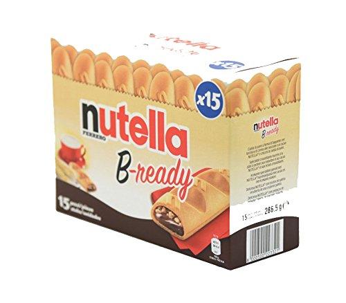 "Ferrero: ""Nutella B-ready "" a crisp wafer of bread in the form of mini baguette stuffed with a creamy Nutella 15 pieces 10.13 oz (286g) [ Italian Import ]"