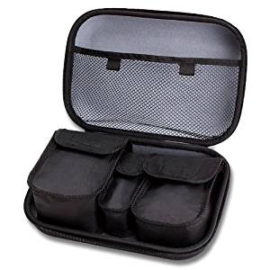 Essential Oils Carrying Case Travel Bag w/ Hard Shell Exterior , Scratch-Resistant Interior & Custom Storage Pockets by USA GEAR - Works Great with Radha Beauty , Artnaturals and more essential oils