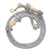 Light Grey Cotton Core Dog Leashes Manufacturer