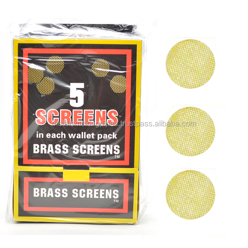 Brass screen tobacco smoking
