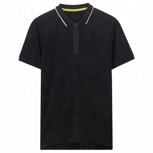 03609e13d UPF 15+ color contrast polo collar custom polo shirt 100% cotton tee shirt  with