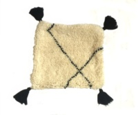 Authentic Handwoven Beni Ourain Pillow Cushions