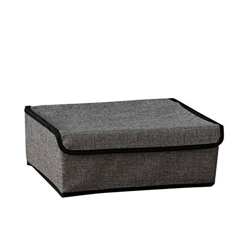 2 in 1 Organizer Multifunctional Foldable Drawer Divider, Underwear Socks Ties Bra Drawer Organizer Storage Box (Dark grey)
