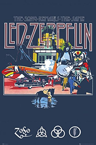buy led zeppelin music poster print the song remains the same