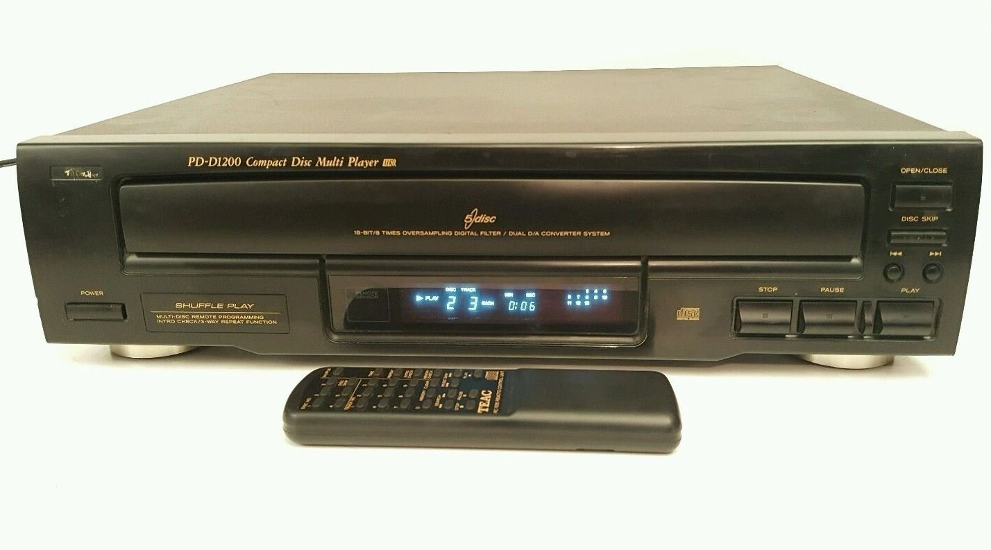 Teac PD-D1200 Multi Disc 5 Disc Cd Changer Player
