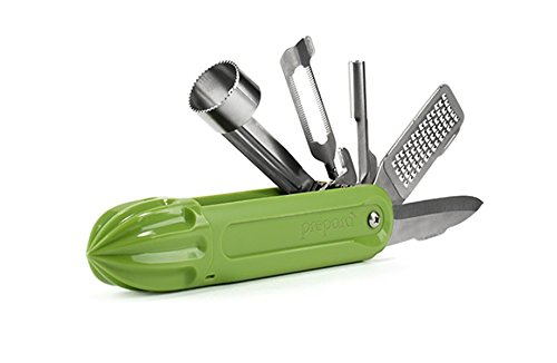 Bartender's Cocktail Garnish Multitool, Peeler, Zester, Apple Corer, Strawberry Huller - Cherry Pitter, Citrus Reamer - Barware, Bar Tool Kit