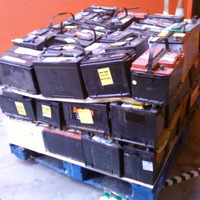 12V Voltage and Acid Lead Battery Type Drained Battery Scrap Motorcycles and Car