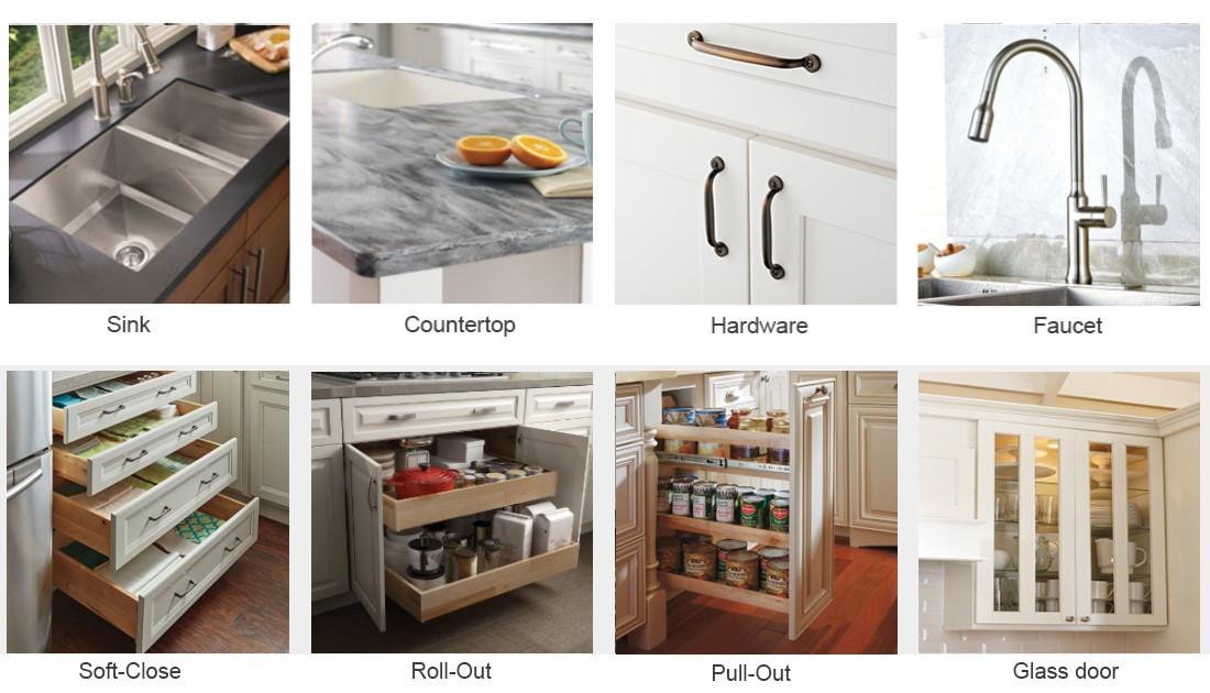 Модульный шкаф дизайн Нержавеющаясталь Кухня Кабинета DP-4