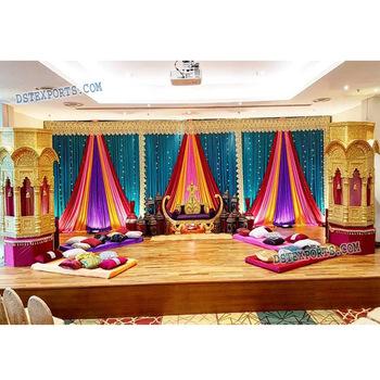 Stunning Muslim Walima Stage Decoration Best Pakistani Wedding Stage  Decoration Best Wedding Stage Decoration , Buy Mehndi Stage Backdrop