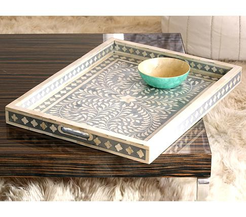 Trays Bone inlay motif bone inlay