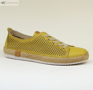 Jute Covered Rubber Sole Leather Women Sneaker 110-D