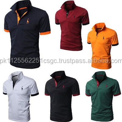 wholesale 2019 Latest fashion design polo shirts for men