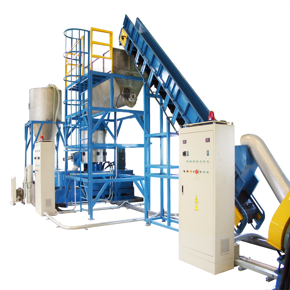 Afval PP/PE plastic film wassen recycling machine
