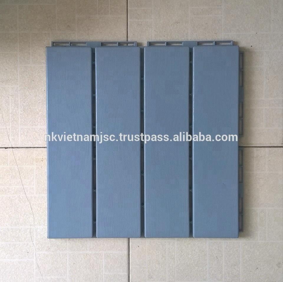 Straight Pattern Plastic Deck Tiles Pvc Flooring