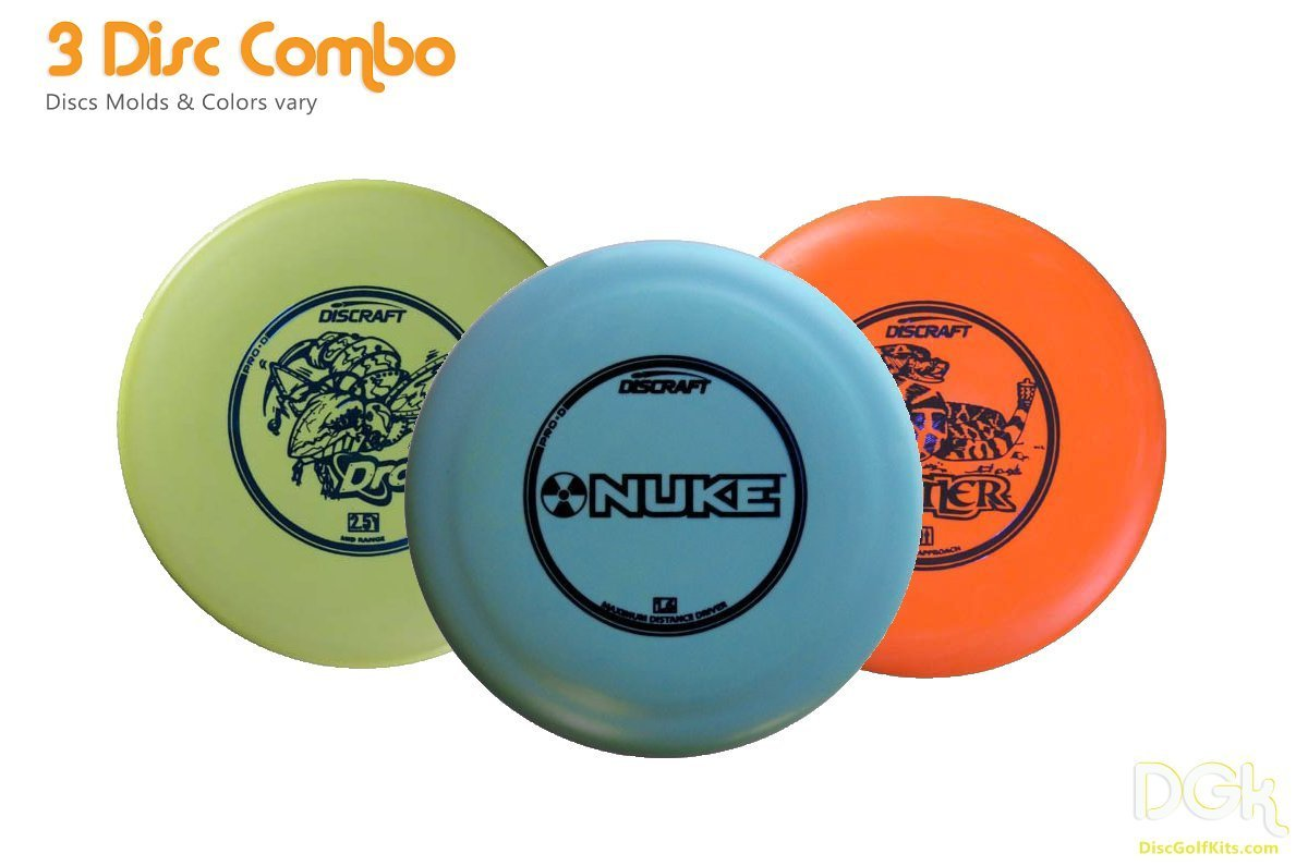 Disc Golf Starter Pack|The Perfect Starter Set includes Discraft Distance Disc Golf Drivers, midrange golf disc, and multiple putter golf discs|Starter kit! Extreme Value due to slight cosmetic defect