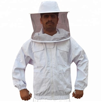 Round Hat Bee Keeping Jacket In Cotton / Bee Jackets / Bee Protective Clothing For Beekeeping