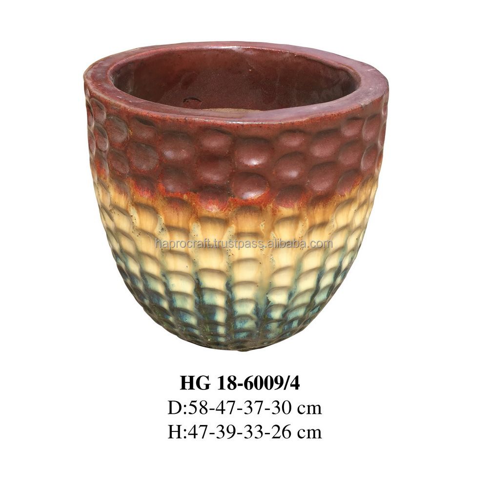 Large Glazed Ceramic Planter Pot In Garden Hg 18-6009/3 - Buy Flower Pot &  Planter,Ceramic Planter,Ceramic Outdoor Product on Alibaba com