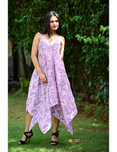 10d45efa7bebf Add to Favorites · Hand Block Cotton Long Dress Designer Beach Wear Bikini  Cover Up Sarong Dress Stylish Long Paisley Print ...