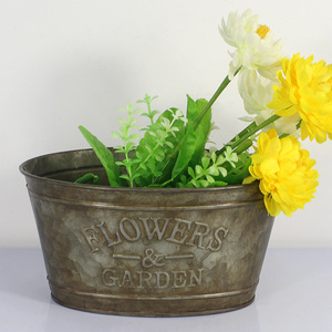 2019 Hot sale Practical and economical metal flower buckets with lovely letter