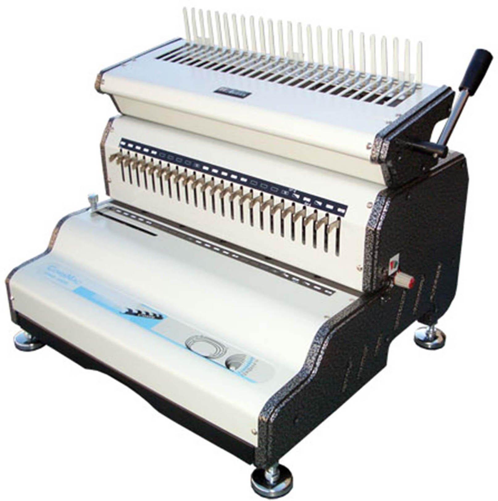 "Akiles CombMac-24E 14"" Comb Binding Machine & Electric Punch, Heavy Duty Comb Opener"