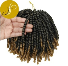 PEARLCOIN WHOLESALE FACTORY PRICE Crochet Braid Hair Spring Twist Crochet Braid Hair Extension Solid Color And Two Tone Ombre