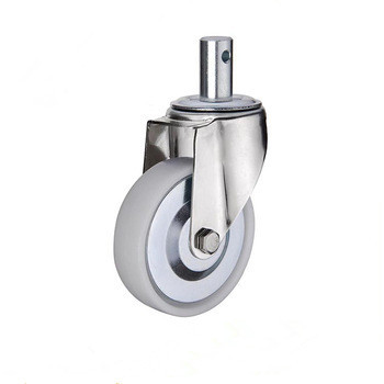 Nice price 75mm caster wheel white plastic stem swivel caster