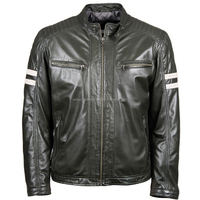 Most Popular new product fashion black genuine cow leather jackets for men