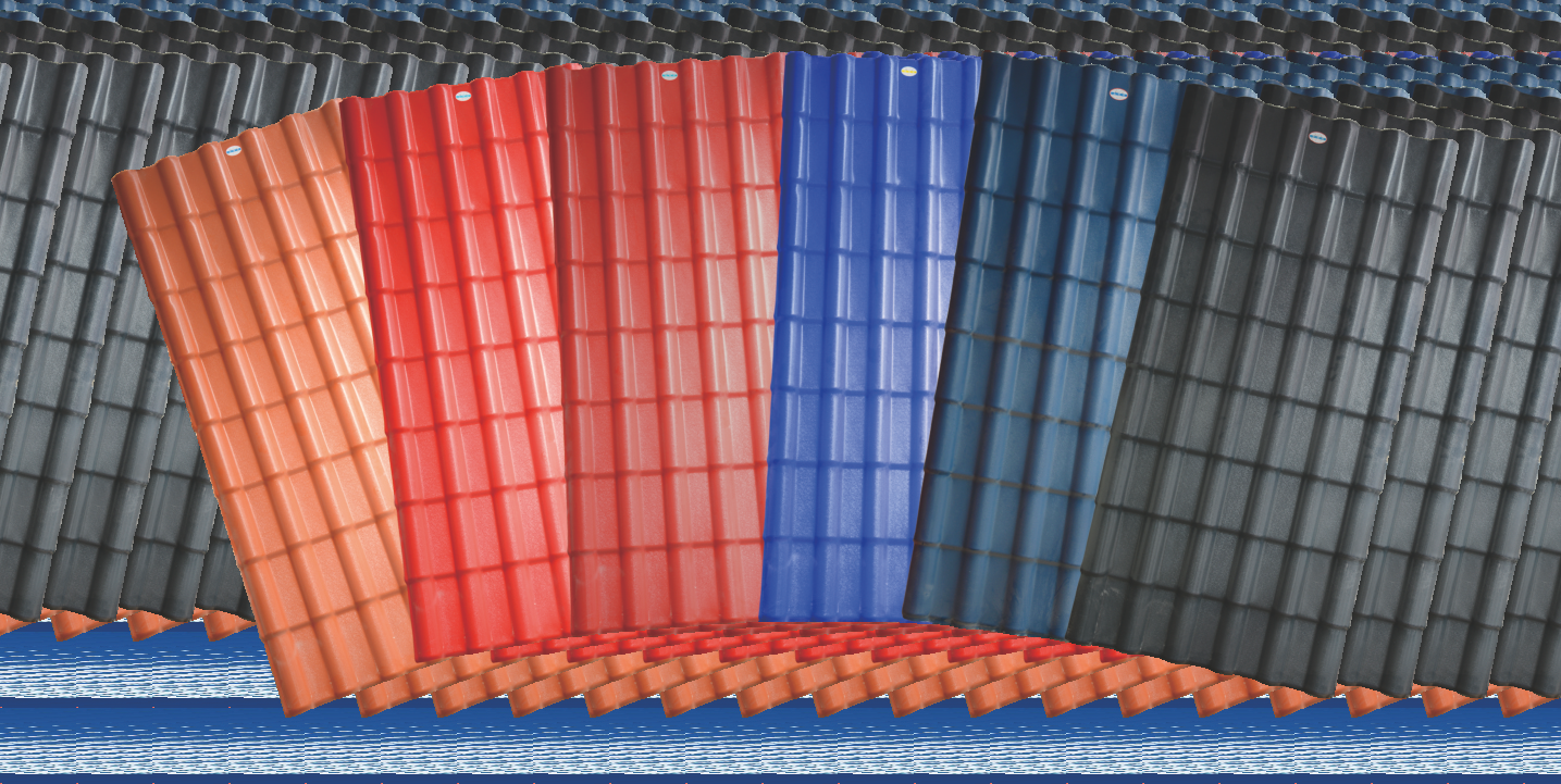 Colorful Plastic Synthetic Resin PVC Roof Tiles/Roof Shingle for Villa ASA PVC Spanish Roofing Sheet