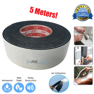 Arrowzoom 500 x 5.0 x 0.3 cm Weather Seal Strip Door Window Insulation Self-Adhesive Draught Excluder Foam Tape
