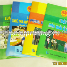 High quality A5 book printing Saddle stitched Glossy soft cover,