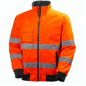 Work & Safety Hi Vis Electricians Workwear Uniform Jacket/ With Reflective Stripes and Fleece lining
