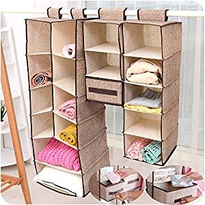 Zqmd Home Hanging Clothes Storage Box Bags 5 Shelving Units Friendly Closet
