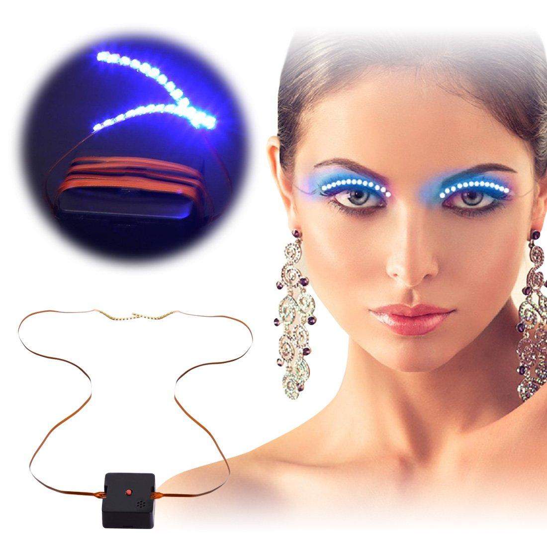 67e8b79bf04 Get Quotations · Led Eyelashes Light, Rophie 2 Pairs LED Light Up Acoustic  Control Eyelid False Eyelashes,
