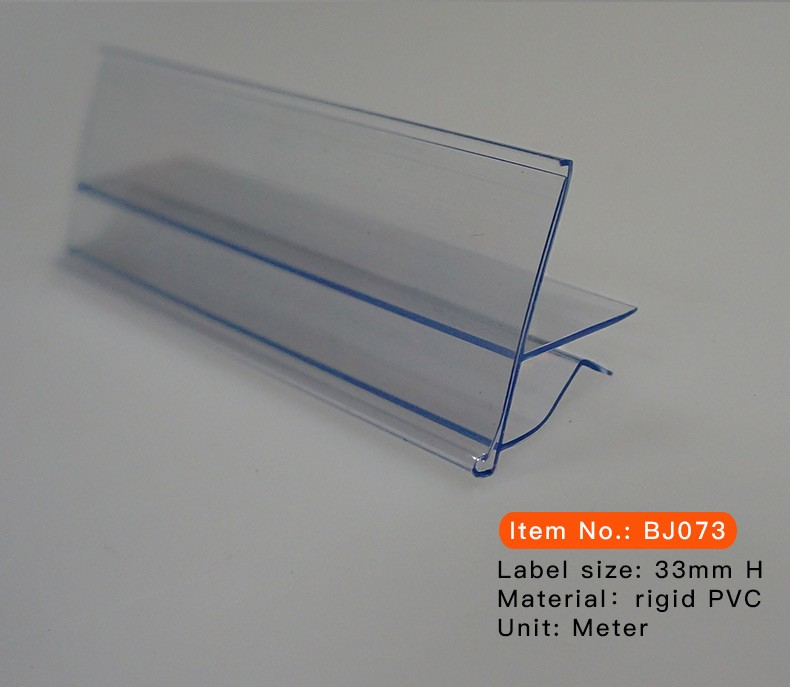 glass shelf edge plastic price tag holder buy glass. Black Bedroom Furniture Sets. Home Design Ideas