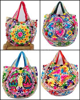 Traditional Kutch Mirror Handbags Aari Work Handbag Kutch Tote