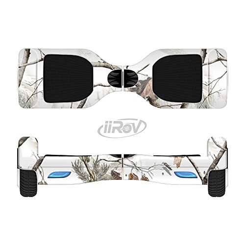 The Real Winter Camouflage Full-Body Wrap Skin Kit for the iiRov HoverBoards and other Scooter (HOVERBOARD NOT INCLUDED)