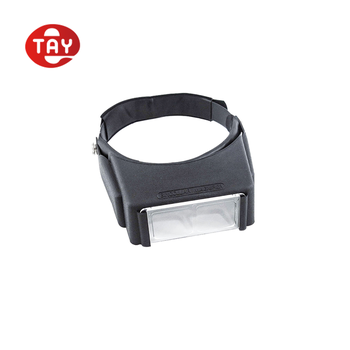 LED light head loupe magnifier for eye strain