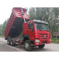 Used 6x4 375hp Sinotruk Howo Dump Truck for sale