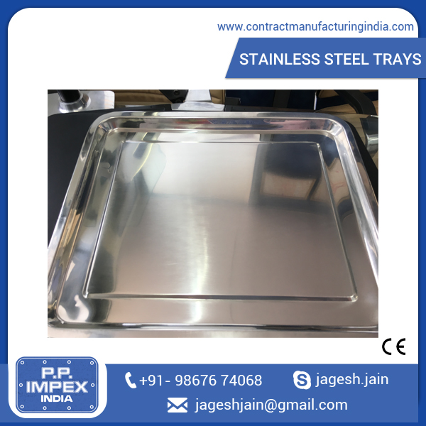 Reputed Manufacturer of Food Serving Metal/ Steel Trays