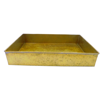 Oxodise Gold Antique Iron Rectangular Metal Serving Tray